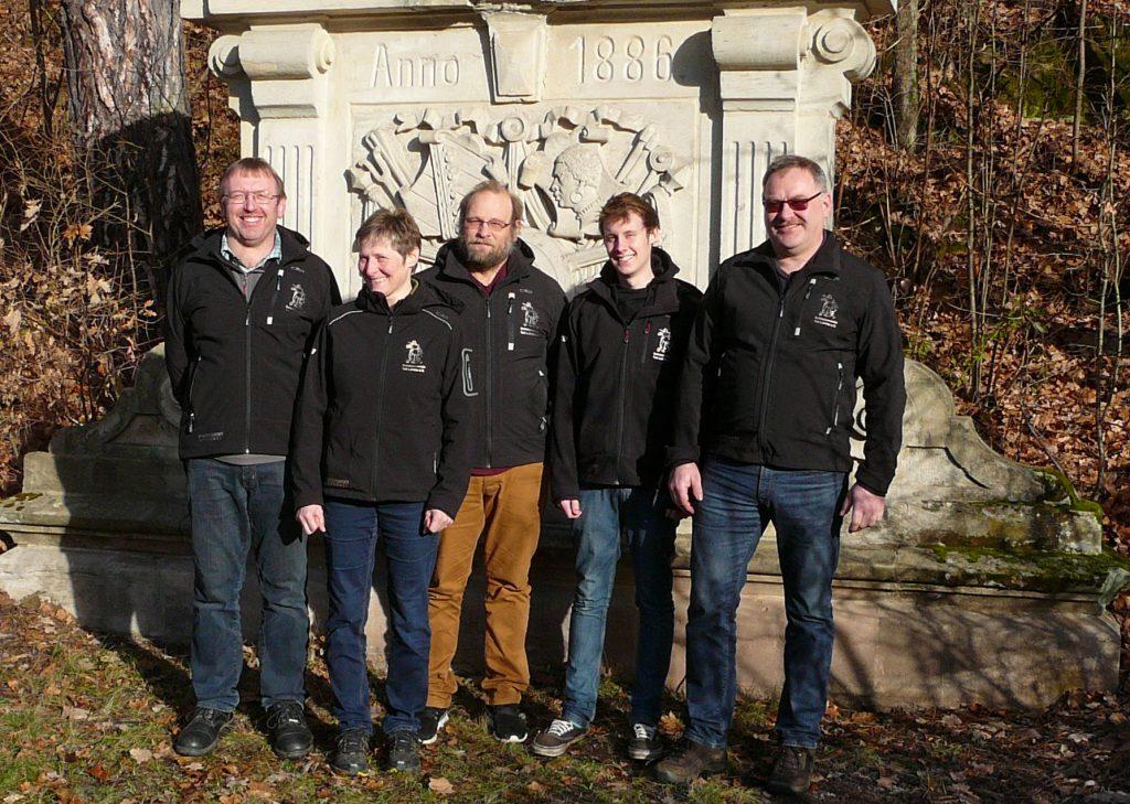 v.l. Reinhard Maier, Marianne Maier, Günther Präcklein, Thomas Bursian, Werner Schwarz